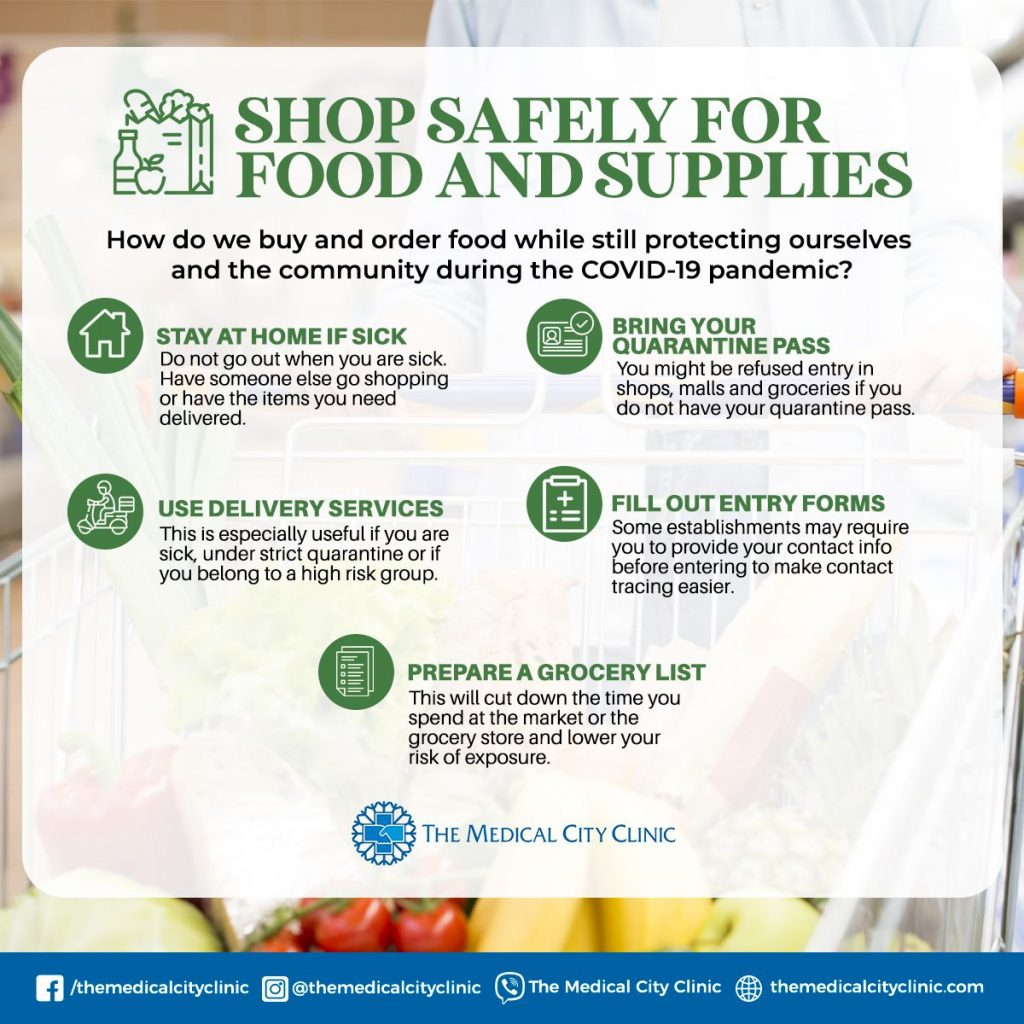 How to Shop Safely For Food and Supplies  During the Pandemic 1