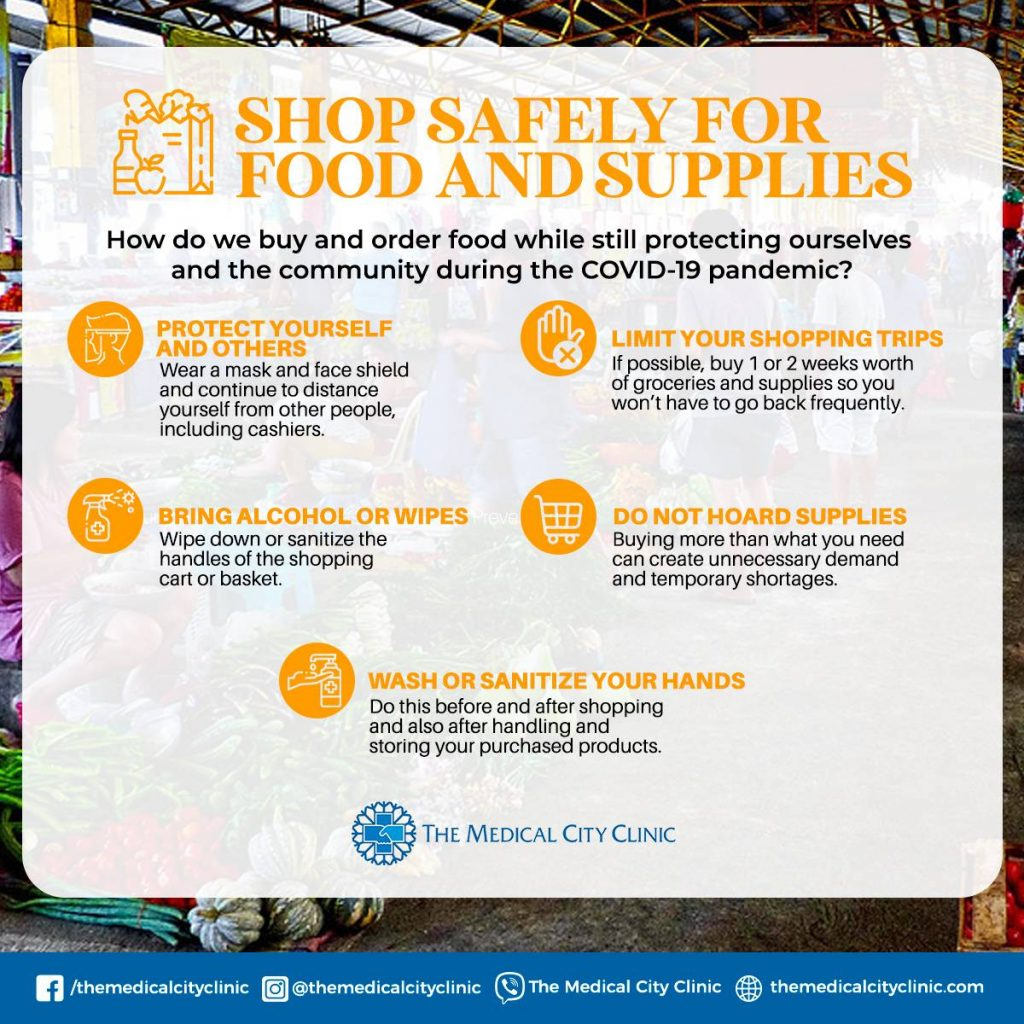 How to Shop Safely For Food and Supplies  During the Pandemic 2